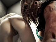 【神鬼猎奇】漂亮美乳女研究员误放章鱼怪猛男 被章鱼怪暴力强操三穴全开虐操干到虚脱 射一脸墨汁精液 高清1080P版