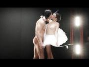 大吊猛男啪啪性感芭蕾舞妹子一字马舔逼逼