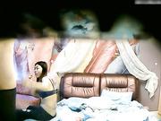 主题酒店羽毛房偷拍-90后高挑气质长发美女谎称生病向部长请假后私会情人,被爆操后淫欲未尽还想要,吓得男的赶紧跑下床!国语!